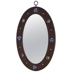 French Ceramic Mirror