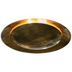 Massive Double Disc Concave and Convex Flush Mount