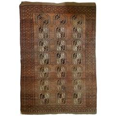 Handmade Antique Afghan Ersari Rug, 1900s