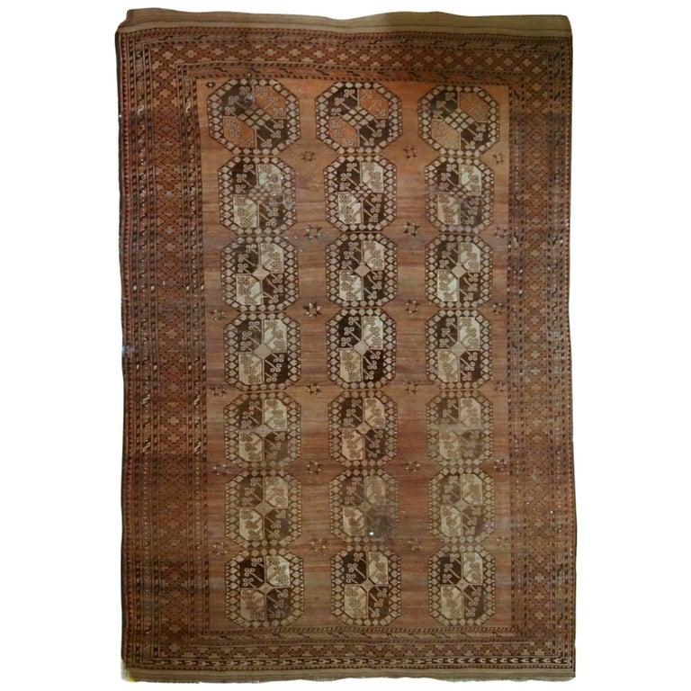 Antique Afghan Rugs: Handmade Vintage Afghan Ersari Rug, 1910s At 1stdibs