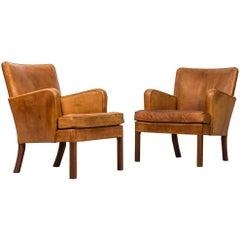 Kaare Klint Easy Chairs Model 5313 by Rud. Rasmussen Cabinetmakers in Denmark
