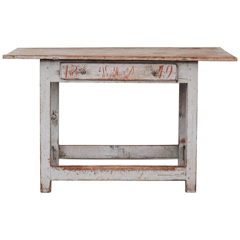 Swedish Gustavian Folk Art Table