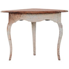 18th Century Rococo Corner Table