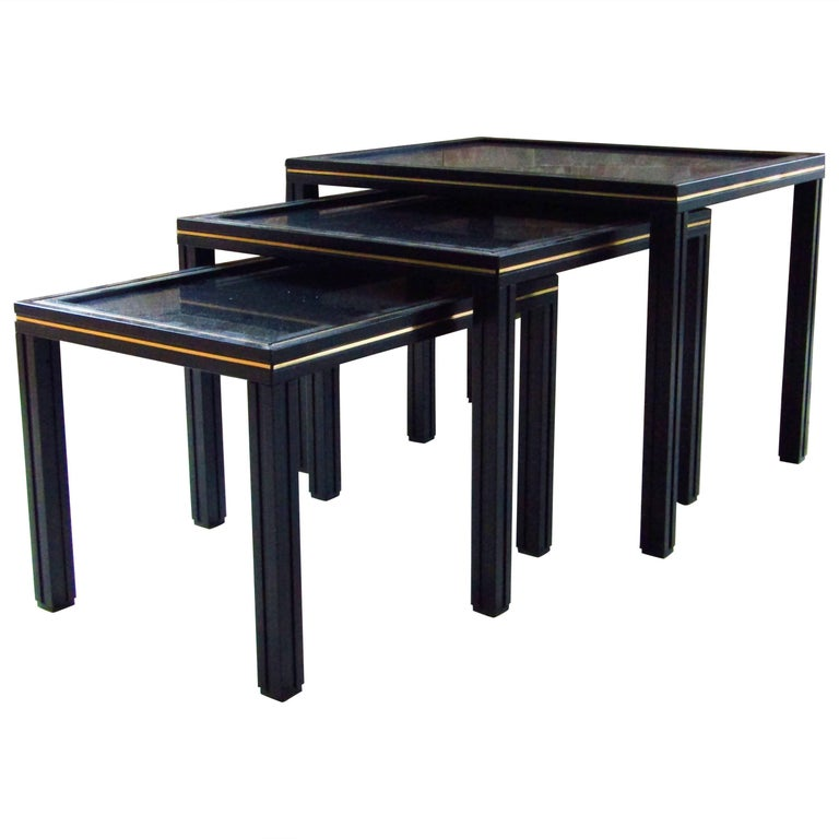 Midcentury Set of Nesting Tables by Pierre Vandel For Sale