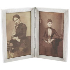 1970s Sterling Silver Double Photograph Frame