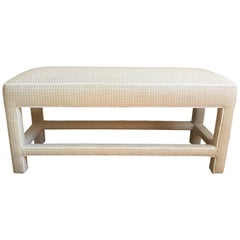 Classic Mid-Century Modern Upholstered Bench
