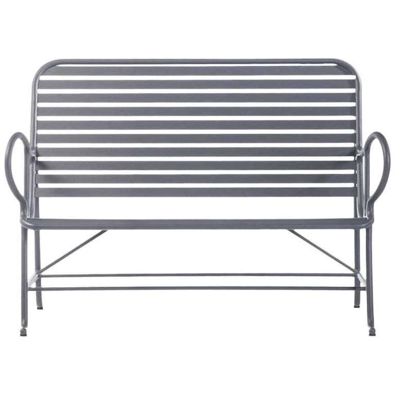BD Barcelona Gardenia Outdoor Bench by Jaime Hayon in Green, White or Grey For Sale
