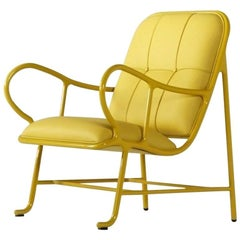 BD Barcelona Gardenia Indoor Seating in Yellow with Yellow Leather