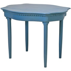 """French 19th Century Painted """"Egg & Dart"""" Table"""