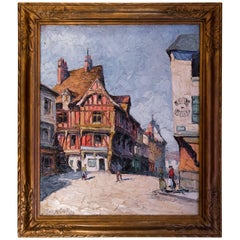 Frank Will, Oil on Canvas, Diane de Poitier House in Nogent le Roi, circa 1922