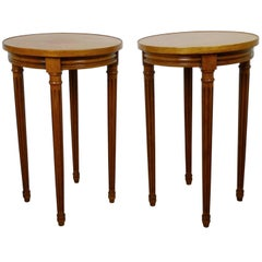 French Cherry Side Tables, 1970s, Set of Two