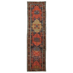 Antique Handmade Northwest Persian Runner Rug