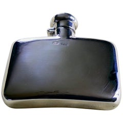 Fine Quality Vintage Silver Hip Flask by Stokes & Ireland, 1900