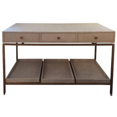 Sophisticated Contemporary Console with Drawers and Trays