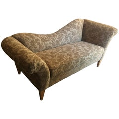 Charming Upholstered Recamier Style Sofa