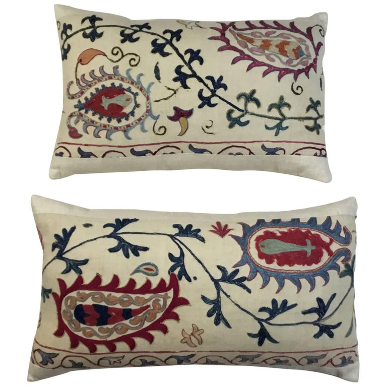 Pair of Antique Suzani Pillow