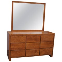 Modernmates Birch Dresser with Mirror by Leslie Diamond for Conant Ball