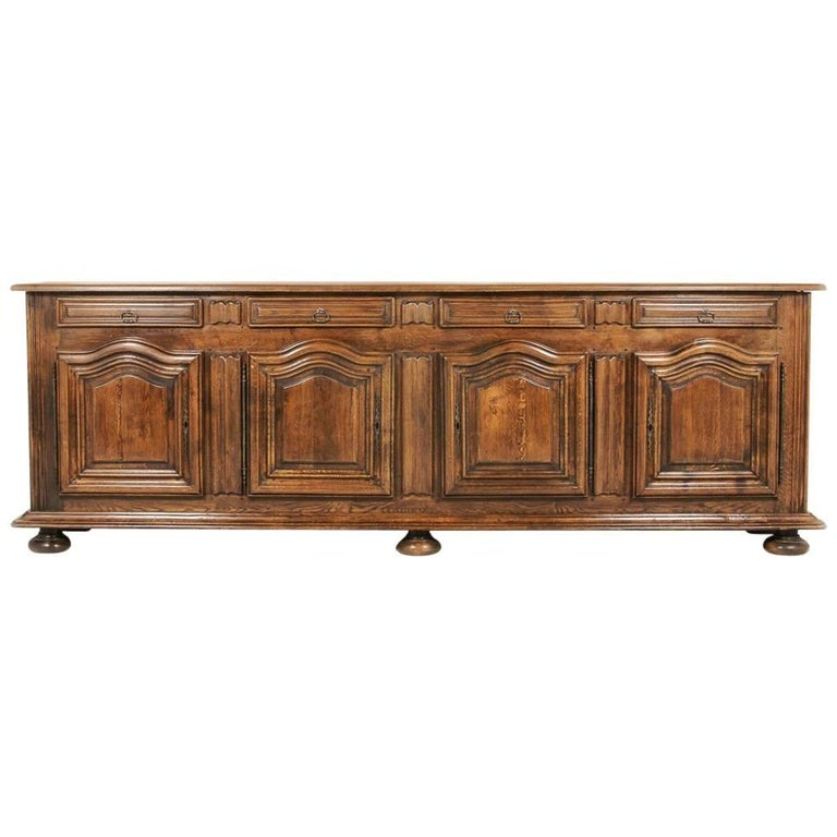 Country French Solid Oak Cabinet