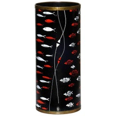 1950s by Siva Midcentury Italian Design Fishes Decor Umbrella Stand