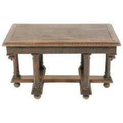Highly Carved Renaissance Revival Oak Table