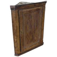 Antique English Georgian Oak Corner Cupboard