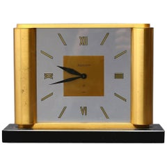 Midcentury Table Clock by Jaeger-LeCoultre, Switzerland