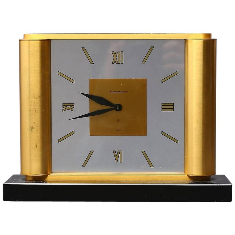 Midcentury Table Clock by Jaeger-LeCoultre, Switzerland For Sale
