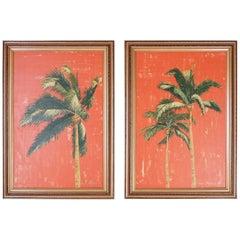 Pair of Palm Tree Paintings