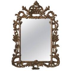 Vintage Carved Italian Giltwood Mirror