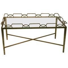 1940s Moderne Gilt Metal Coffee Table