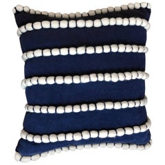 "Hand Appliqued Italian Pillow, ""Lido"""