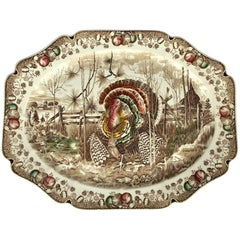 English Transferware Large Platter, His Majesty by Johnson Brothers