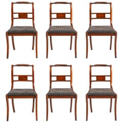 Set of Six English Regency Dining Chairs