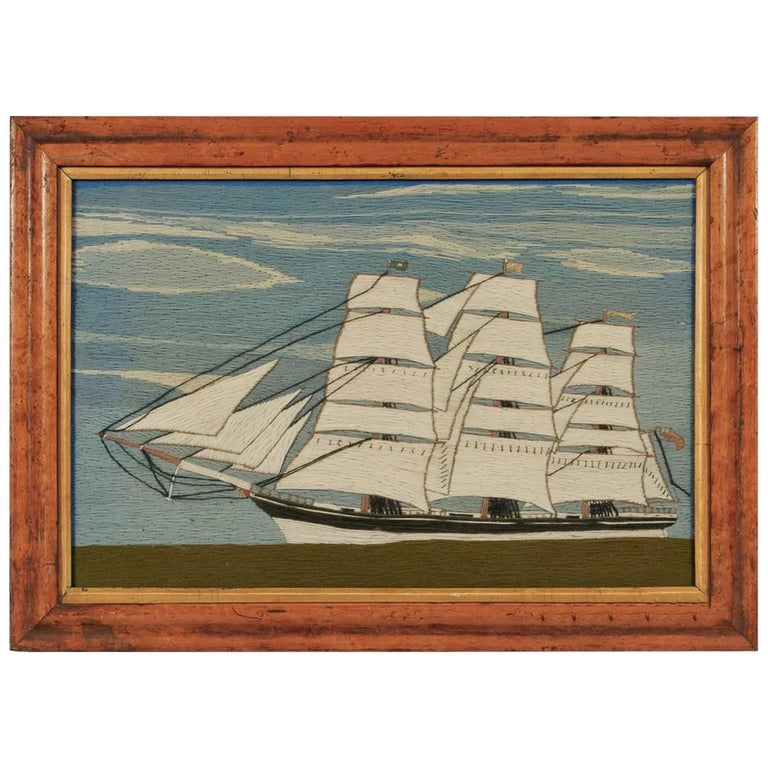 British Sailor's Woolwork of a Merchant Navy Ship, circa 1865-1885