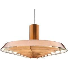 Copper Poul Henningsen, Louis Poulsen Langelinie Plate Lamp, 1958