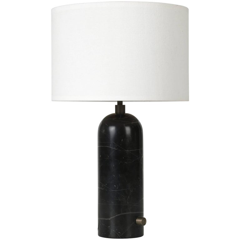 Gravity Black Marble Table Lamp For Sale At 1stdibs