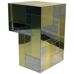 Signed Paul Evans Two Tone Cityscape Table