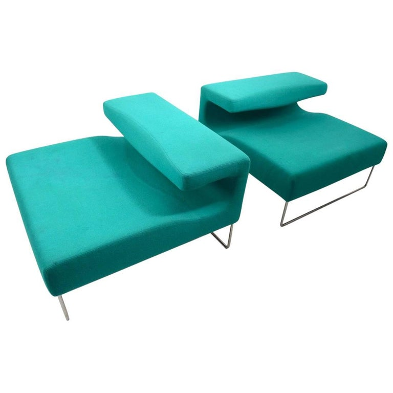 Pair of Postmodern Italian Lounge Chairs