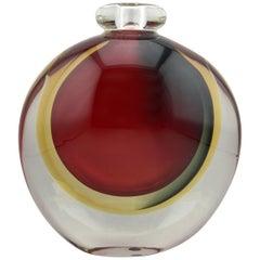 Heavy Signed Italian Murano Glass Vase
