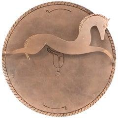 Palmer Smith Art Deco Aluminium Horse Plate
