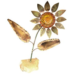 Curtis Jeré Metal and Resin Sunflower Sculpture