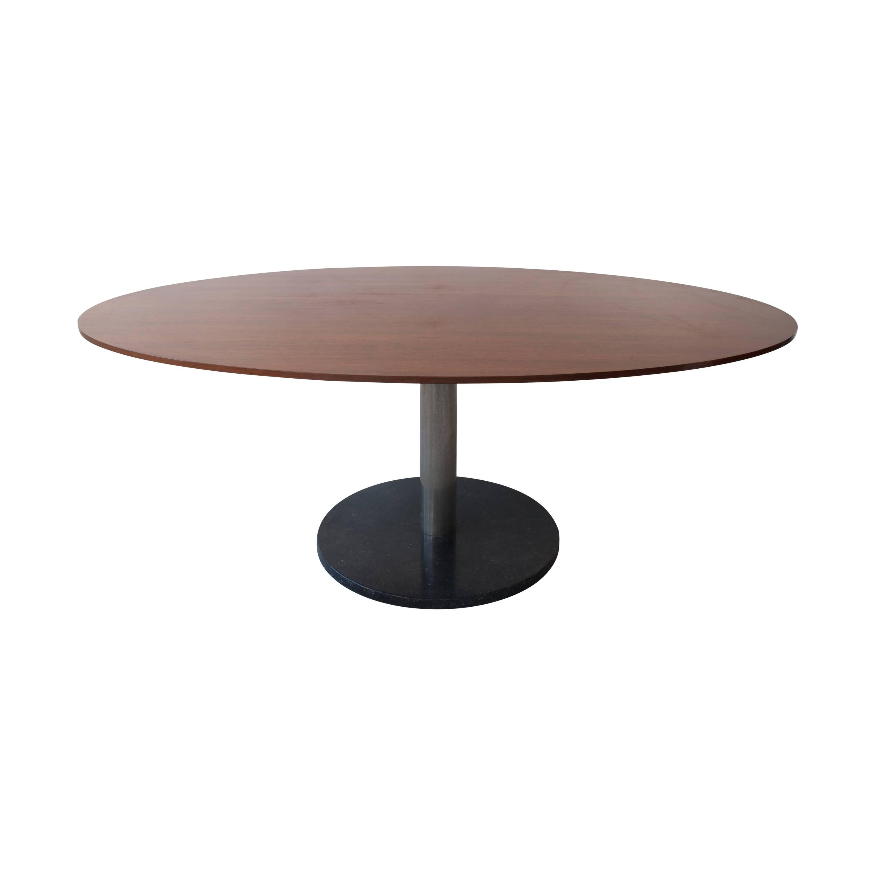 Alfred Hendrickx Oval Shaped Rosewood Dining Table, Belgium Design, 1962  For Sale