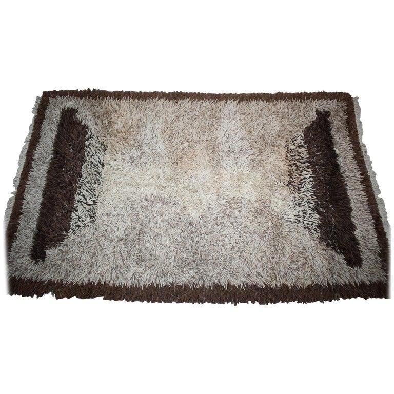 Modern Dutch Design High-Pile Wool Carpet, Tapestry, 1970s