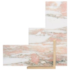 Steppy Bookend in Norwegian Rose Marble