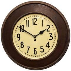 Large Steel Art Deco Wall Clock
