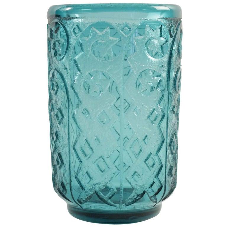 Daum Nancy Monumental and Thick Art Deco Vase