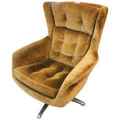 20th Century Comfortable Lounge Chair in Original Upholstery, circa 1950