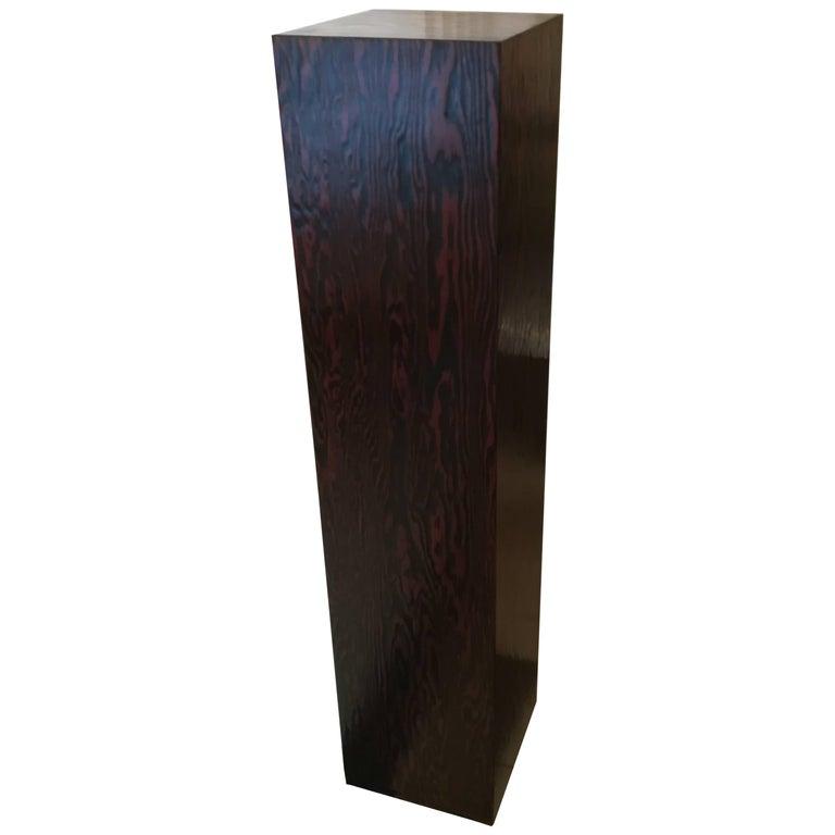 Art Deco Andre Sornay Oregon Pine Pedestal, circa 1930