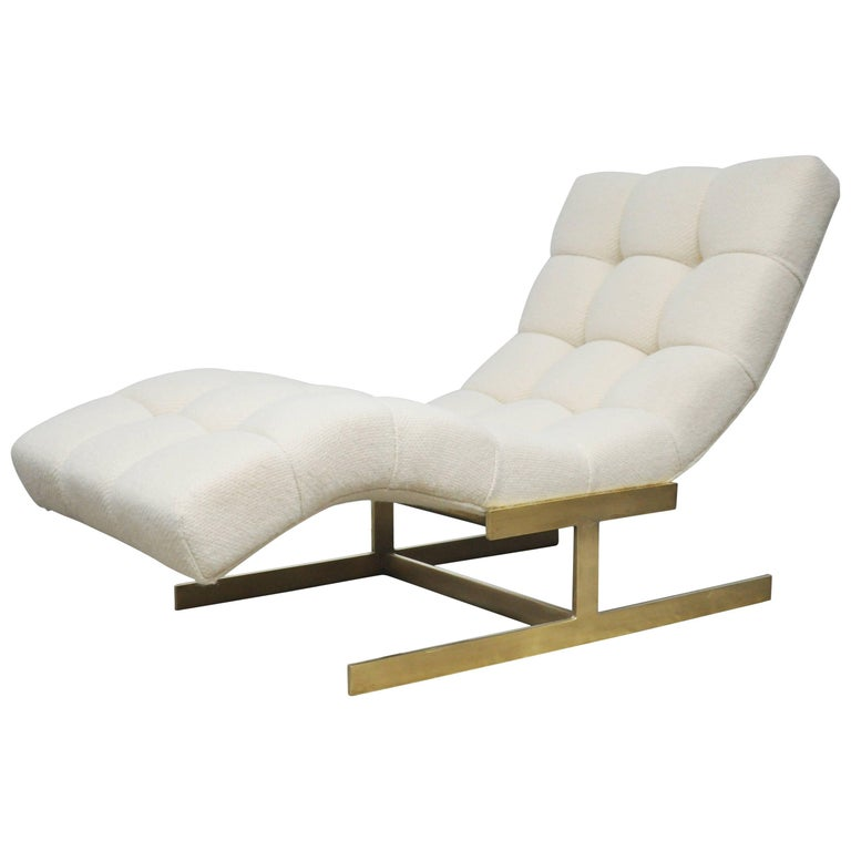 Wave Chaise on Brass base