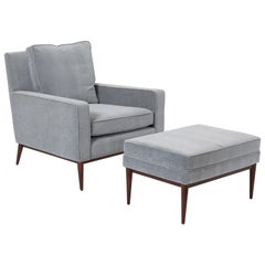 Paul McCobb Lounge Chair with Ottoman for Directional